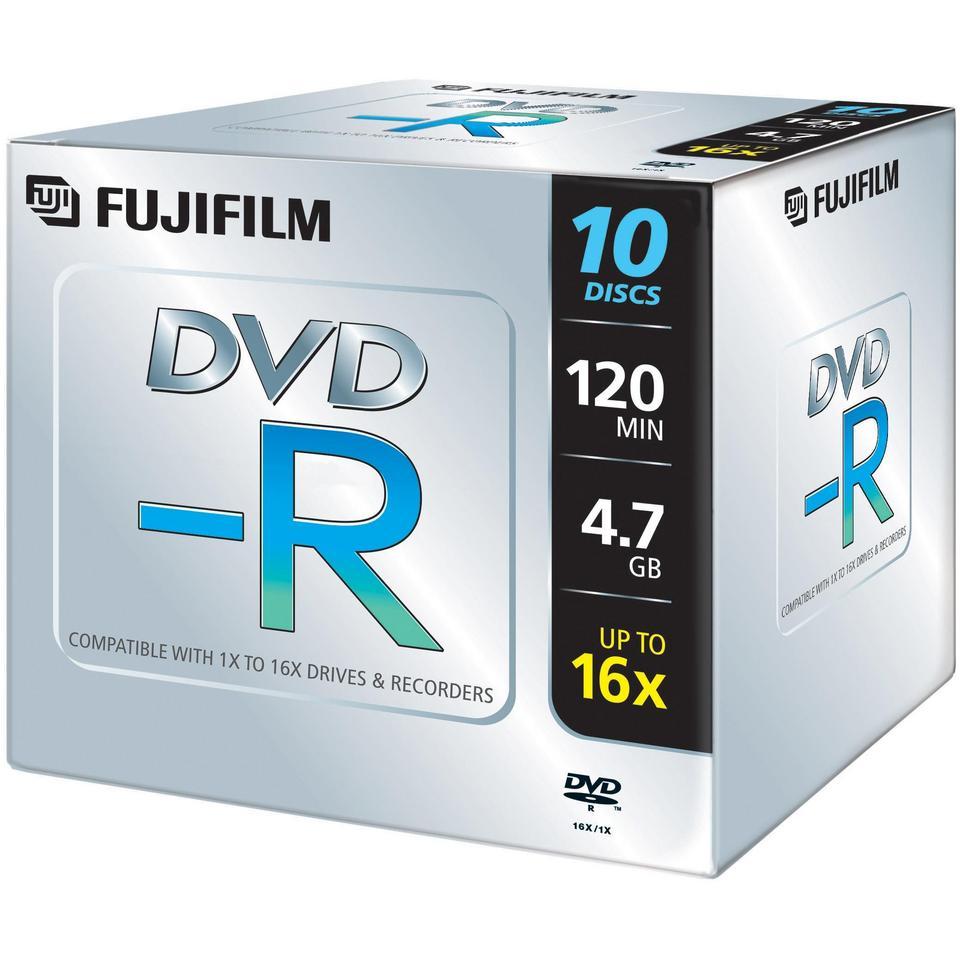 DVD-R 4,7GB 16X PK10 CRISTAL REDEVANCE AUDIO UNITE 10EUROS